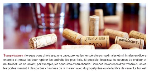 Le stockage du vin